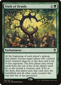 Oath of Druids, Magic: The Gathering, Commander 2016
