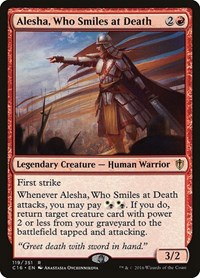 Alesha, Who Smiles at Death, Magic, Commander 2016