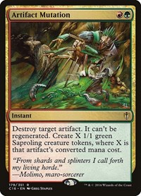 Artifact Mutation, Magic: The Gathering, Commander 2016