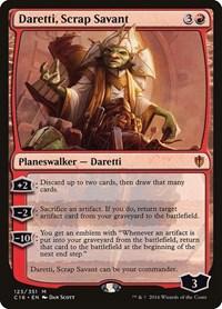 Daretti, Scrap Savant, Magic: The Gathering, Commander 2016