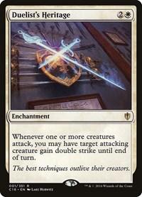 Duelist's Heritage, Magic: The Gathering, Commander 2016