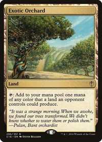 Exotic Orchard, Magic: The Gathering, Commander 2016