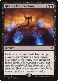Ghastly Conscription, Magic: The Gathering, Commander 2016