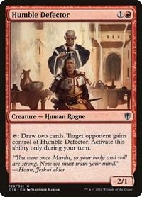 Humble Defector, Magic: The Gathering, Commander 2016