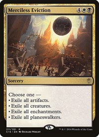 Merciless Eviction, Magic: The Gathering, Commander 2016