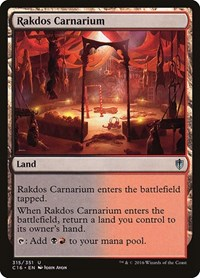 Rakdos Carnarium, Magic: The Gathering, Commander 2016