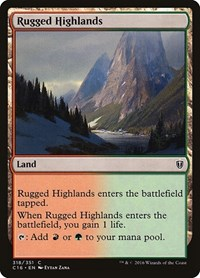 Rugged Highlands, Magic: The Gathering, Commander 2016