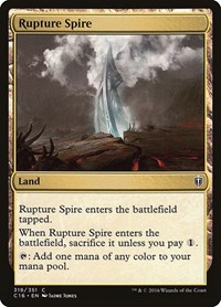 Rupture Spire, Magic, Commander 2016