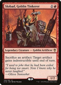 Slobad, Goblin Tinkerer, Magic, Commander 2016