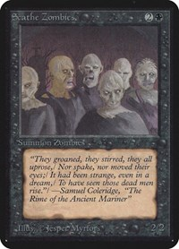 Scathe Zombies, Magic: The Gathering, Alpha Edition