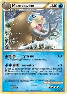 Mamoswine (HGSS Triumphant - Cracked Ice Holo), Pokemon, Deck Exclusives