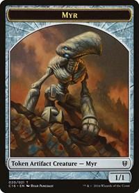 Myr // Bird (White) Double-sided Token, Magic: The Gathering, Commander 2016