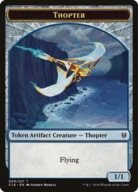Thopter // Germ Double-sided Token, Magic: The Gathering, Commander 2016