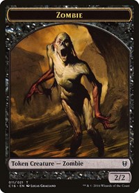 Zombie // Worm Double-sided Token, Magic, Commander 2016