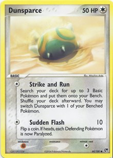Dunsparce, Pokemon, EX Battle Stadium
