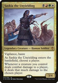 Saskia the Unyielding (Commander 2016), Magic: The Gathering, Oversize Cards