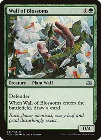 Wall of Blossoms, Magic: The Gathering, Planechase Anthology