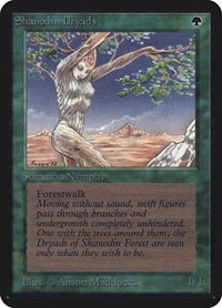 Shanodin Dryads, Magic: The Gathering, Alpha Edition