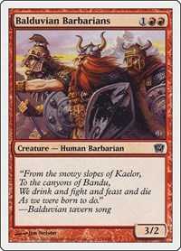 Balduvian Barbarians, Magic: The Gathering, 9th Edition