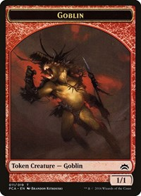 Goblin // Boar Double-sided Token, Magic: The Gathering, Planechase Anthology