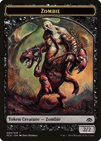 Zombie // Hellion Double-sided Token, Magic, Planechase Anthology