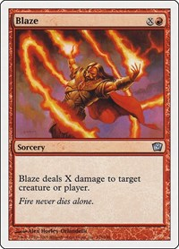 Blaze, Magic: The Gathering, 9th Edition