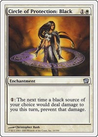 Circle of Protection: Black, Magic: The Gathering, 9th Edition
