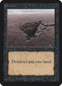 Sinkhole, Magic: The Gathering, Alpha Edition