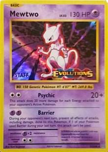 Mewtwo (XY Evolutions Staff Prerelease), Pokemon, XY Promos