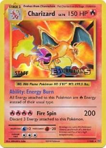 Charizard (XY Evolutions Staff Prerelease), Pokemon, XY Promos
