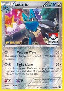 Lucario - 63/124 (League Promo) [1st Place], Pokemon, League & Championship Cards