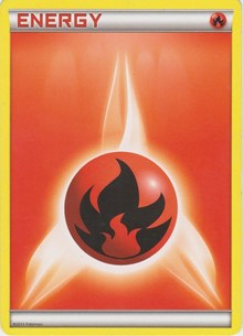 Fire Energy (2013 Unnumbered), Pokemon, Deck Exclusives