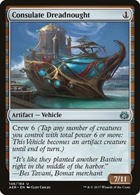 Consulate Dreadnought, Magic: The Gathering, Aether Revolt