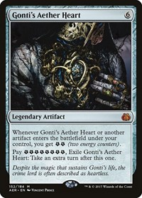 Gonti's Aether Heart, Magic: The Gathering, Aether Revolt