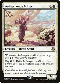 Aethergeode Miner, Magic: The Gathering, Aether Revolt