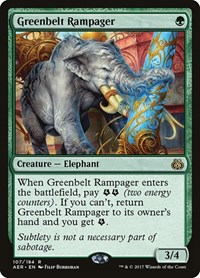 Greenbelt Rampager, Magic: The Gathering, Aether Revolt