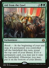 Aid from the Cowl, Magic: The Gathering, Aether Revolt