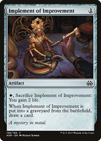 Implement of Improvement, Magic: The Gathering, Aether Revolt