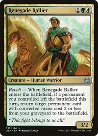 Renegade Rallier, Magic: The Gathering, Aether Revolt
