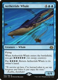 Aethertide Whale, Magic: The Gathering, Aether Revolt