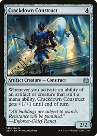 Crackdown Construct, Magic: The Gathering, Aether Revolt
