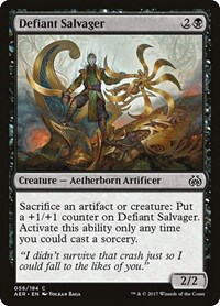 Defiant Salvager, Magic: The Gathering, Aether Revolt