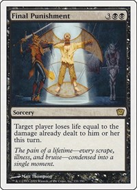 Final Punishment, Magic: The Gathering, 9th Edition