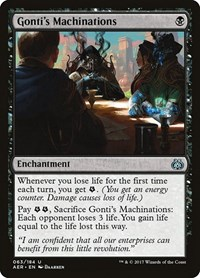 Gonti's Machinations, Magic: The Gathering, Aether Revolt