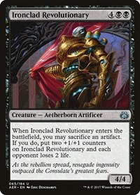 Ironclad Revolutionary, Magic: The Gathering, Aether Revolt