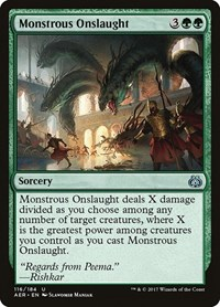 Monstrous Onslaught, Magic: The Gathering, Aether Revolt