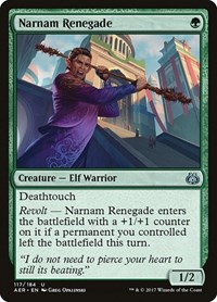 Narnam Renegade, Magic, Aether Revolt