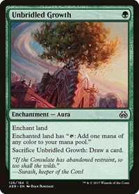 Unbridled Growth, Magic: The Gathering, Aether Revolt