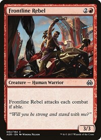 Frontline Rebel, Magic: The Gathering, Aether Revolt