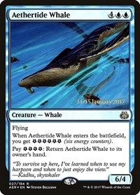 Aethertide Whale, Magic: The Gathering, Prerelease Cards